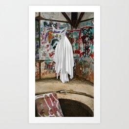 Graffiti Ghost Art Print