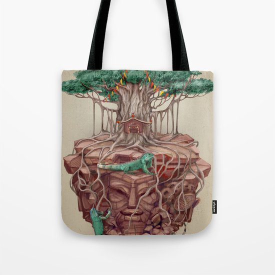 tree land Tote Bag