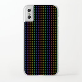 Rows of Rainbow Flowers Clear iPhone Case
