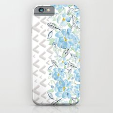 Gray arrows and blue flowers iPhone 6s Slim Case