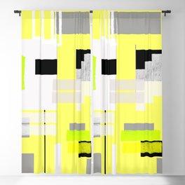 yellow white black silver grey green orange geometric modern art Blackout Curtain