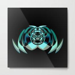 Futuristic Bug Metal Print