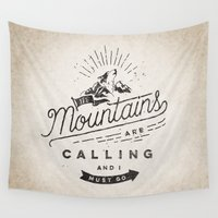 mountains Wall Tapestries featuring Mountains by Seaside Spirit