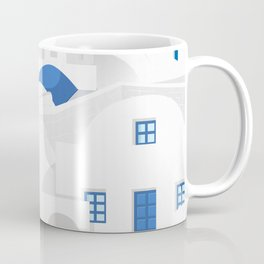 Vintage Santorini poster Coffee Mug