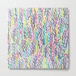 Rainbow Sea Weed Metal Print