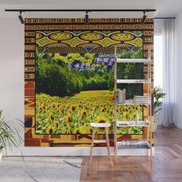 Earthy Sunflower Wall Mural