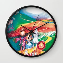 My Wonderfull World of Oz Wall Clock