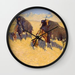 Indians Simulating Buffalo Wall Clock