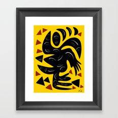 African Yellow abstract minimal and pop art design Framed Art Print
