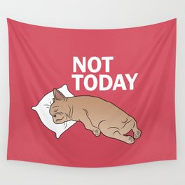 Lazy Frenchie Wall Tapestry