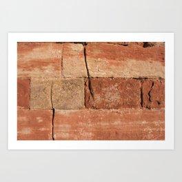 Ancient Sandstone Wall Art Print