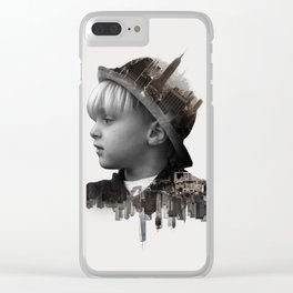 City Kid - Double Exposure Poster Clear iPhone Case