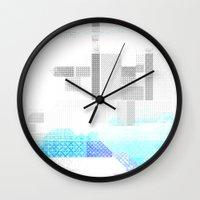 fog Wall Clocks featuring Fog by allan redd