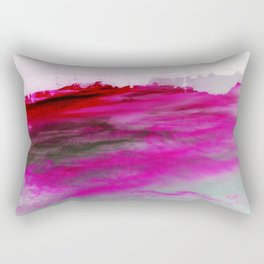 Purple Clouds Red Mountain Rectangular Pillow