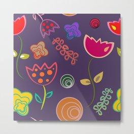 Motif de fleurs 5 Metal Print