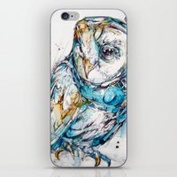 glass iPhone & iPod Skins featuring The Sea Glass Owl by Abby Diamond