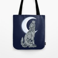 lunar Tote Bags featuring Lunar by MacGreen