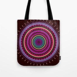 Colorful patterns and textured mandala Tote Bag