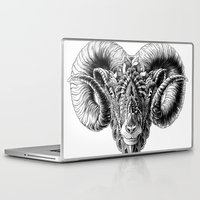 bioworkz Laptop & iPad Skins featuring Ram Head by BIOWORKZ