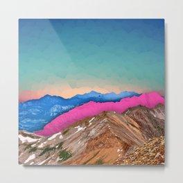 Color Band Mountains Metal Print