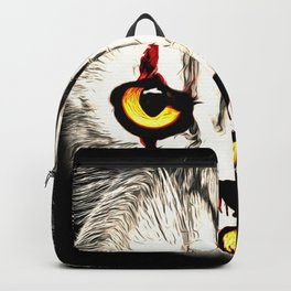 cat clown kittywise no text vector art Backpack