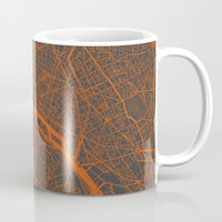 paris map Mugs featuring Paris map by Map Map Maps