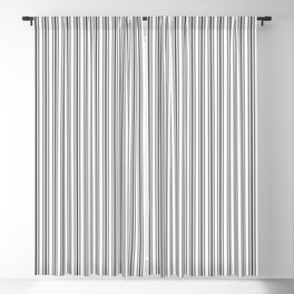Trendy French Black and White Mattress Ticking Double Stripes Blackout Curtain