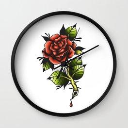 Blood Rose Wall Clock