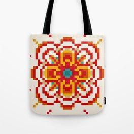 pixel flower Tote Bag