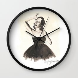 Black HERstory: Dorothy v2 Wall Clock