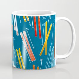Colorful Ski Pattern Coffee Mug