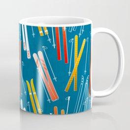 Colorful Ski Pattern Coffee Mug