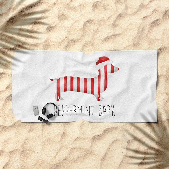 Peppermint Bark Beach Towel