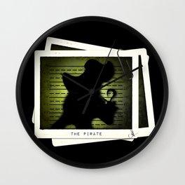 """The Pirate"" Mugshot Wall Clock"