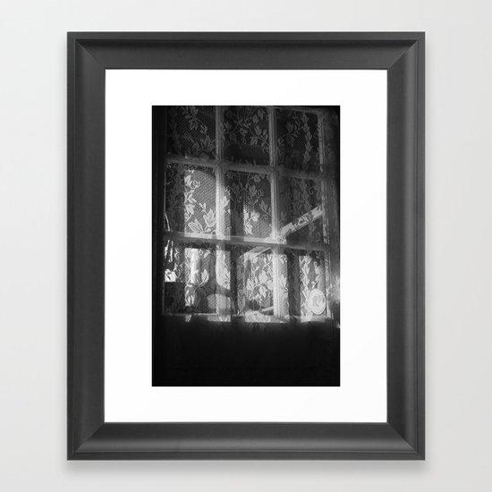 Lace window Framed Art Print