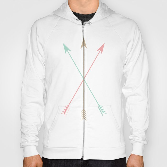 Minimal Colored Arrows Hoody