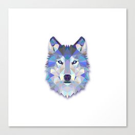 POLYGON WOLF HEAD Canvas Print