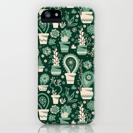 Paisley succulents iPhone Case