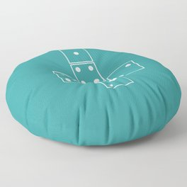 Unrolled D6 Floor Pillow
