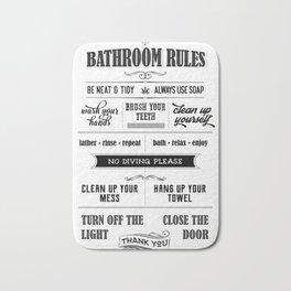 Bathroom Rules Bath Mat
