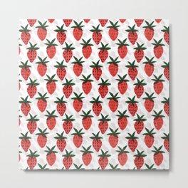 the strawberrys Metal Print