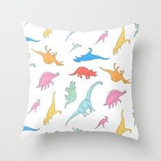 Dino Doodles Throw Pillow