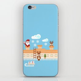 Santa Claus deliver presents on Christmas Eve iPhone Skin