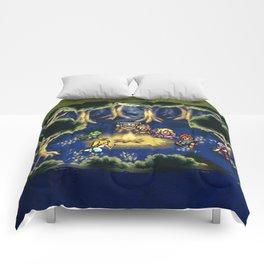Chrono Trigger Camping Scene Comforters