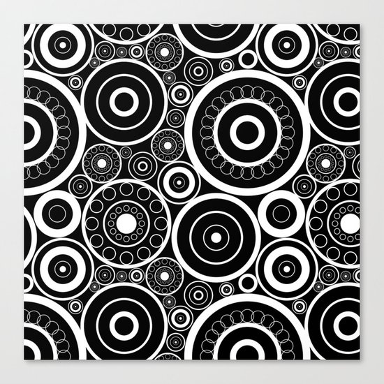Abstract black and white pattern. Canvas Print