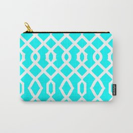 Grille No. 3 -- Cyan Carry-All Pouch