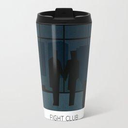 El club de la pelea minimalista Travel Mug