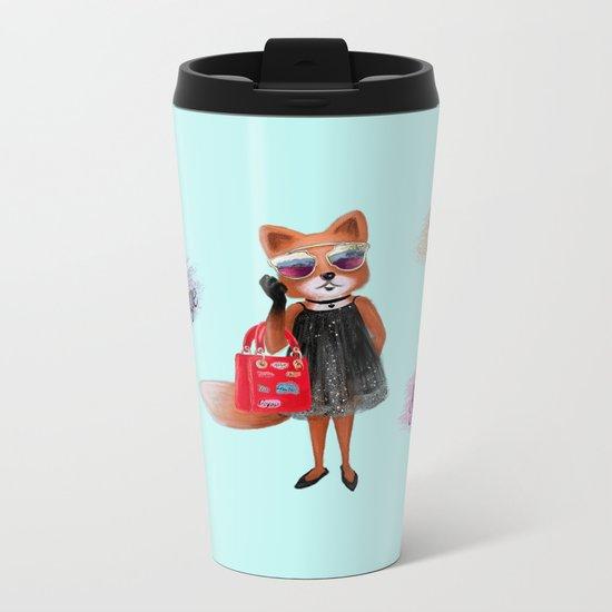 Fashion Fox Metal Travel Mug