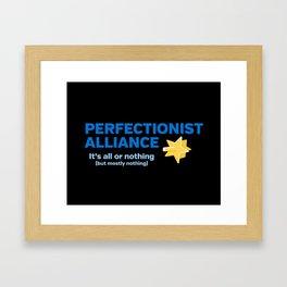 Perfectionist Alliance Framed Art Print