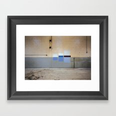 Wall Swatches Framed Art Print